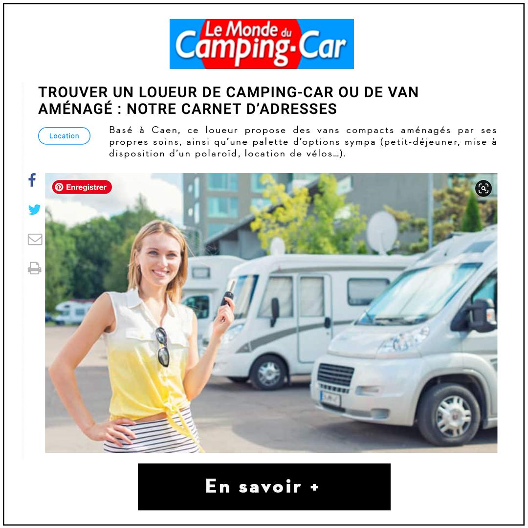 Article le Monde du Camping.car