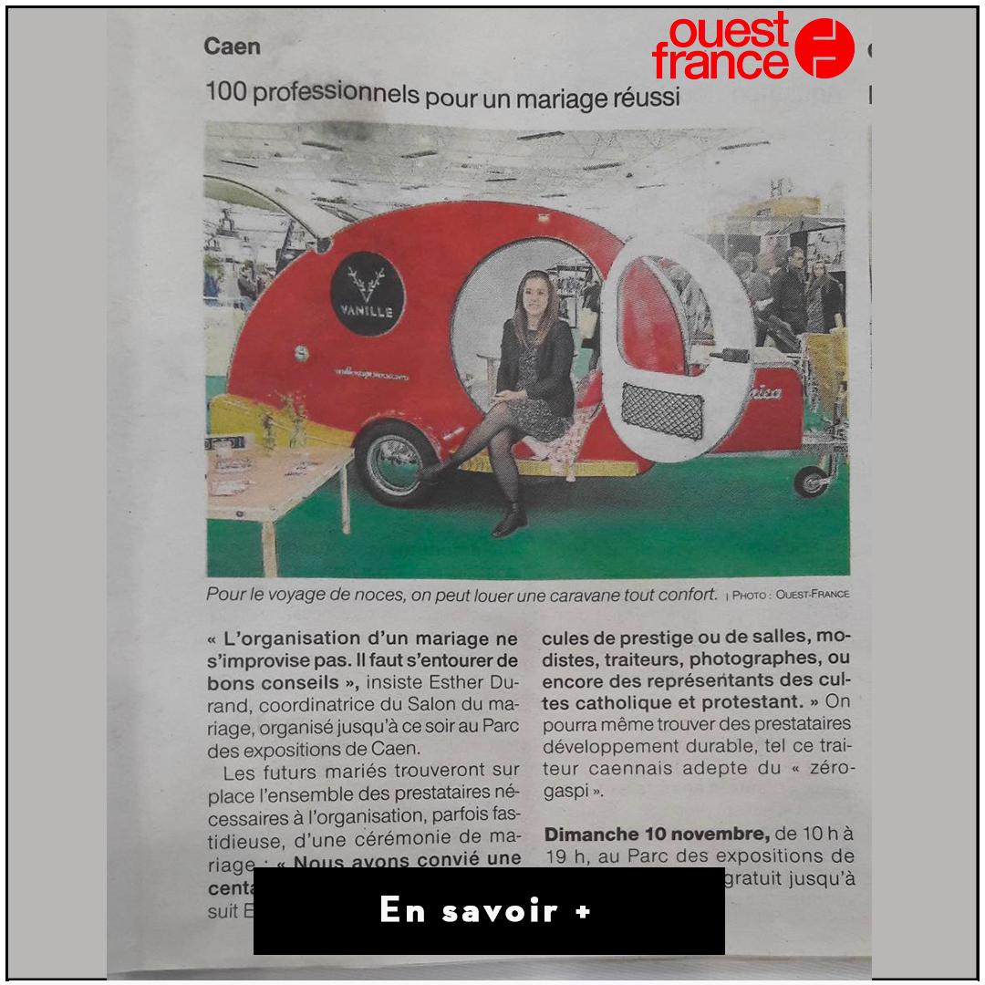 Article Salon du mariage Ouest France
