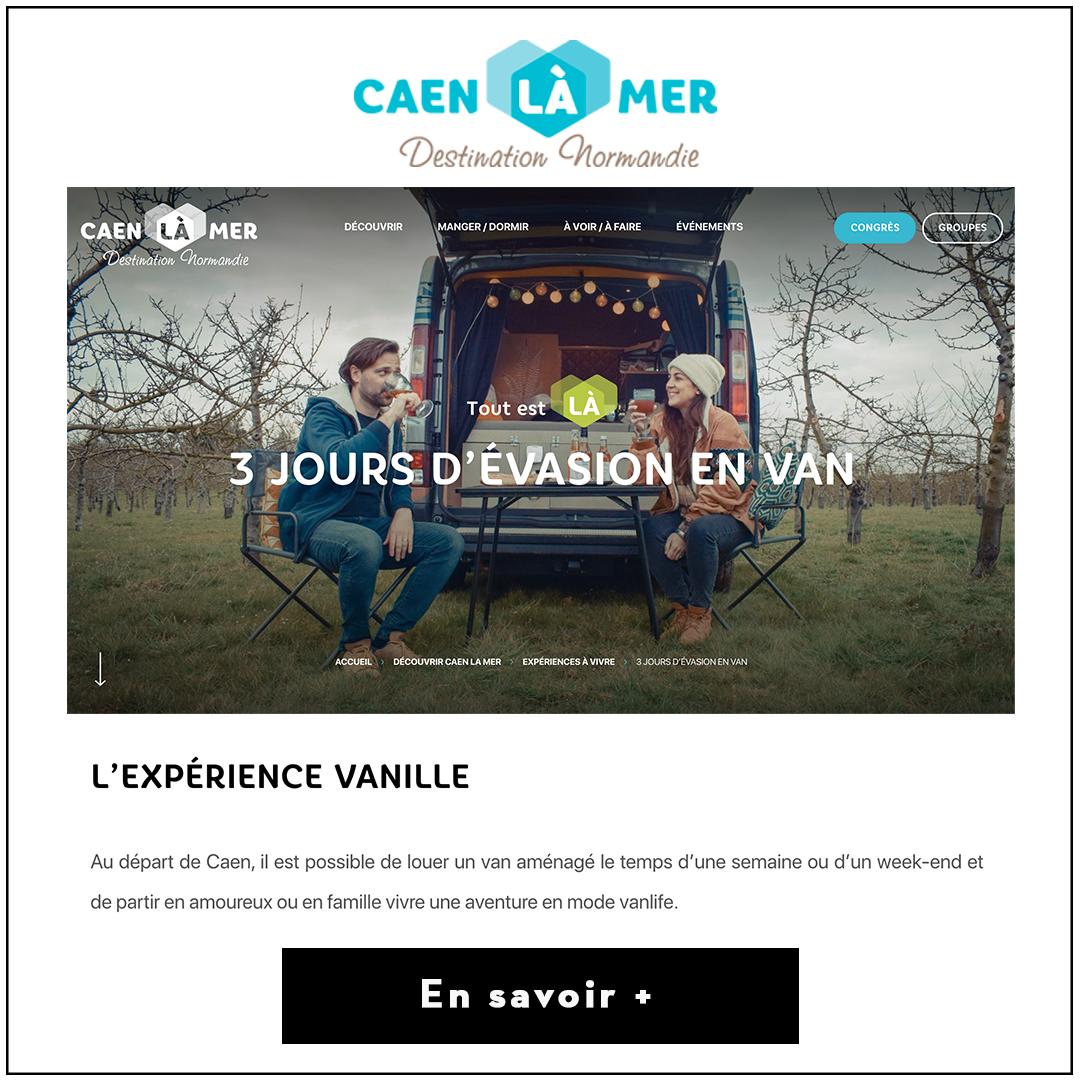 Article Mademoiselle Voyage avec Caen la Mer